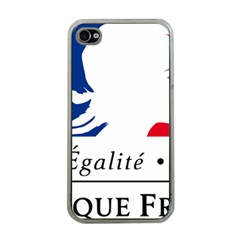 Symbol of the French Government Apple iPhone 4 Case (Clear)