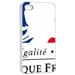 Symbol of the French Government Apple iPhone 4/4s Seamless Case (White)