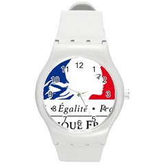 Symbol of the French Government Round Plastic Sport Watch (M)