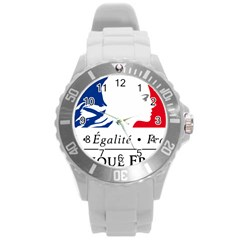 Symbol of the French Government Round Plastic Sport Watch (L)