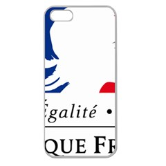 Symbol of the French Government Apple Seamless iPhone 5 Case (Clear)