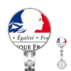 Symbol of the French Government Stainless Steel Nurses Watch