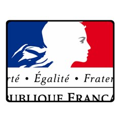 Symbol of the French Government Double Sided Fleece Blanket (Small)