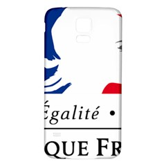 Symbol of the French Government Samsung Galaxy S5 Back Case (White)