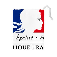 Symbol of the French Government Drawstring Pouches (Large)