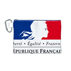 Symbol of the French Government Canvas Cosmetic Bag (M)