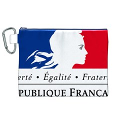 Symbol of the French Government Canvas Cosmetic Bag (XL)