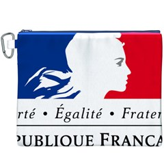 Symbol of the French Government Canvas Cosmetic Bag (XXXL)