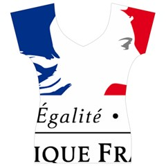 Symbol of the French Government Women s V-Neck Cap Sleeve Top