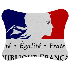 Symbol of the French Government Jigsaw Puzzle Photo Stand (Bow)