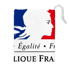 Symbol of the French Government Drawstring Pouches (Extra Large)