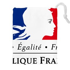Symbol of the French Government Drawstring Pouches (XXL)