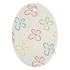 Flower Background Nature Floral Ornament (oval)