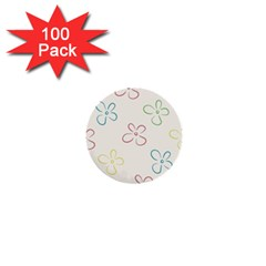 Flower Background Nature Floral 1  Mini Buttons (100 pack)