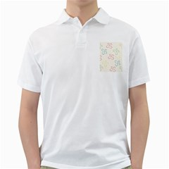 Flower Background Nature Floral Golf Shirts