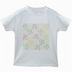 Flower Background Nature Floral Kids White T Shirts