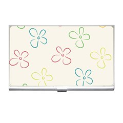 Flower Background Nature Floral Business Card Holders