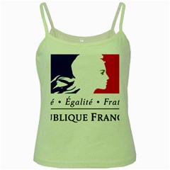 Symbol of the French Government Green Spaghetti Tank