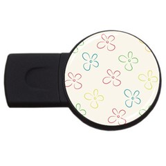 Flower Background Nature Floral USB Flash Drive Round (2 GB)