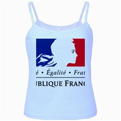 Symbol of the French Government Baby Blue Spaghetti Tank