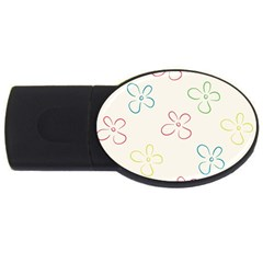 Flower Background Nature Floral Usb Flash Drive Oval (2 Gb)