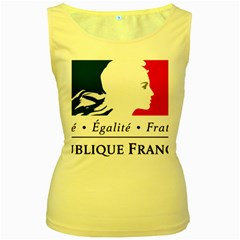 Symbol of the French Government Women s Yellow Tank Top