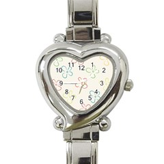 Flower Background Nature Floral Heart Italian Charm Watch