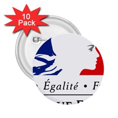 Symbol of the French Government 2.25  Buttons (10 pack)