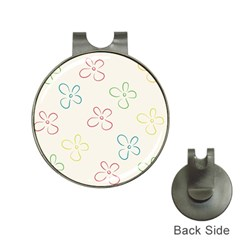 Flower Background Nature Floral Hat Clips with Golf Markers