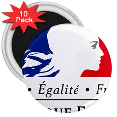 Symbol of the French Government 3  Magnets (10 pack)