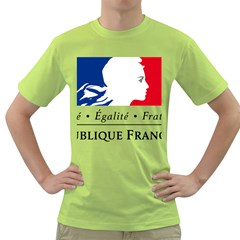 Symbol of the French Government Green T-Shirt