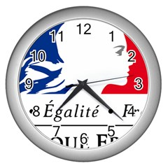 Symbol of the French Government Wall Clocks (Silver)