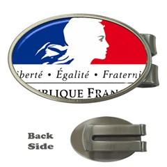Symbol of the French Government Money Clips (Oval)
