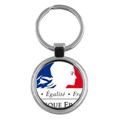 Symbol of the French Government Key Chains (Round)