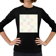 Flower Background Nature Floral Women s Long Sleeve Dark T Shirts
