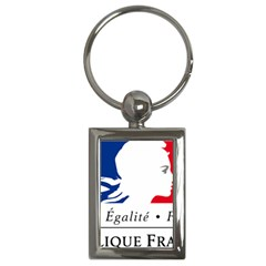 Symbol of the French Government Key Chains (Rectangle)