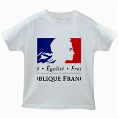 Symbol of the French Government Kids White T-Shirts