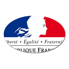 Symbol of the French Government Oval Magnet