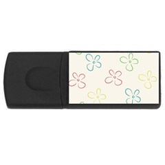Flower Background Nature Floral USB Flash Drive Rectangular (4 GB)