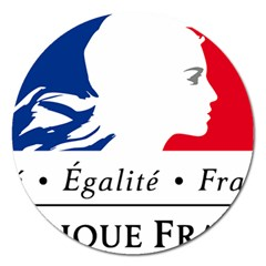 Symbol of the French Government Magnet 5  (Round)