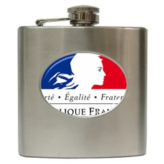 Symbol of the French Government Hip Flask (6 oz)