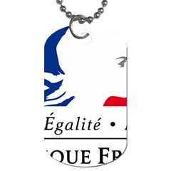 Symbol of the French Government Dog Tag (Two Sides)