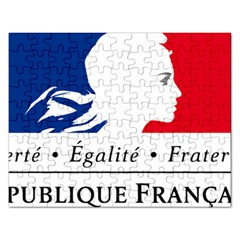 Symbol of the French Government Rectangular Jigsaw Puzzl