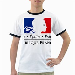 Symbol of the French Government Ringer T-Shirts