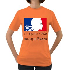 Symbol of the French Government Women s Dark T-Shirt
