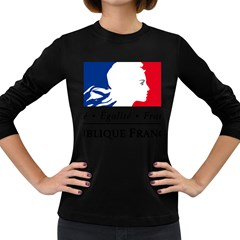 Symbol of the French Government Women s Long Sleeve Dark T-Shirts