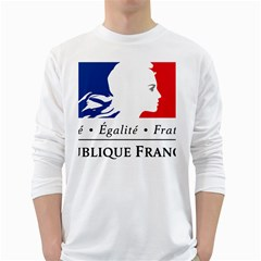 Symbol of the French Government White Long Sleeve T-Shirts