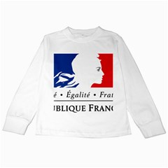 Symbol of the French Government Kids Long Sleeve T-Shirts