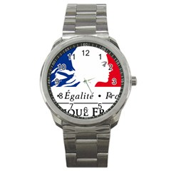 Symbol of the French Government Sport Metal Watch