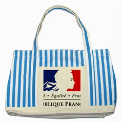 Symbol of the French Government Striped Blue Tote Bag